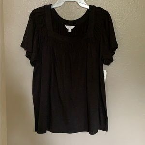 Time and Tru Women's Square Neck T-Shirt/L (12-14)